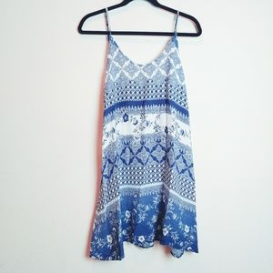 PPLA Clothing Blue/White Floral Striped Dress